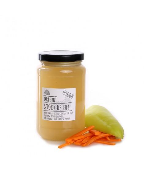 Supă din oase de pui şi legume
