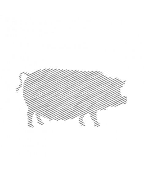 Mușchi de porc mangaliță, copt şi afumat